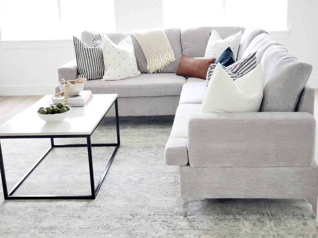 Daylight Basement Living Room Basement Living Rooms Living Room Grey Sofa Styling