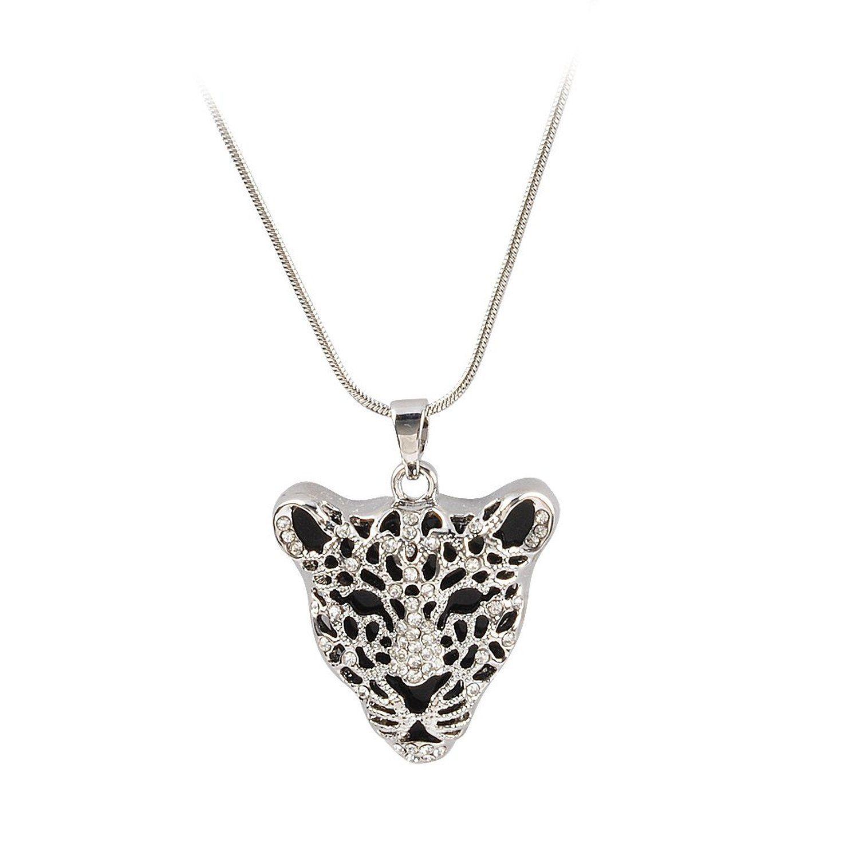 jane stone collier chaine fantaisie pendentif tete de leopard personnalise femme bijoux tendance. Black Bedroom Furniture Sets. Home Design Ideas