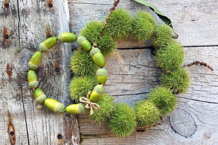 Photo of Autumnal craft ideas with acorns and chestnuts