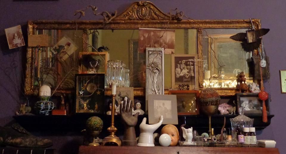 Interior Alchemy Bohemian and vintage-inspired spaces - home interior  assemblage arrangement
