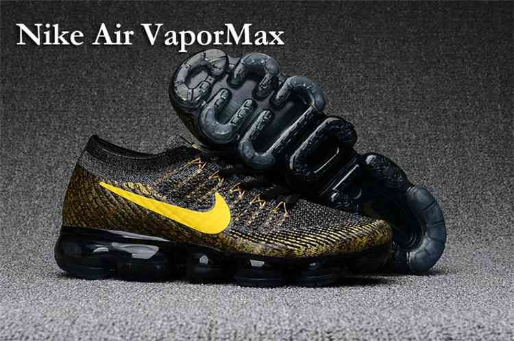 b5f19587ab3 Nike Air Vapormax Flyknit Women Air Max 2018 Black Gold