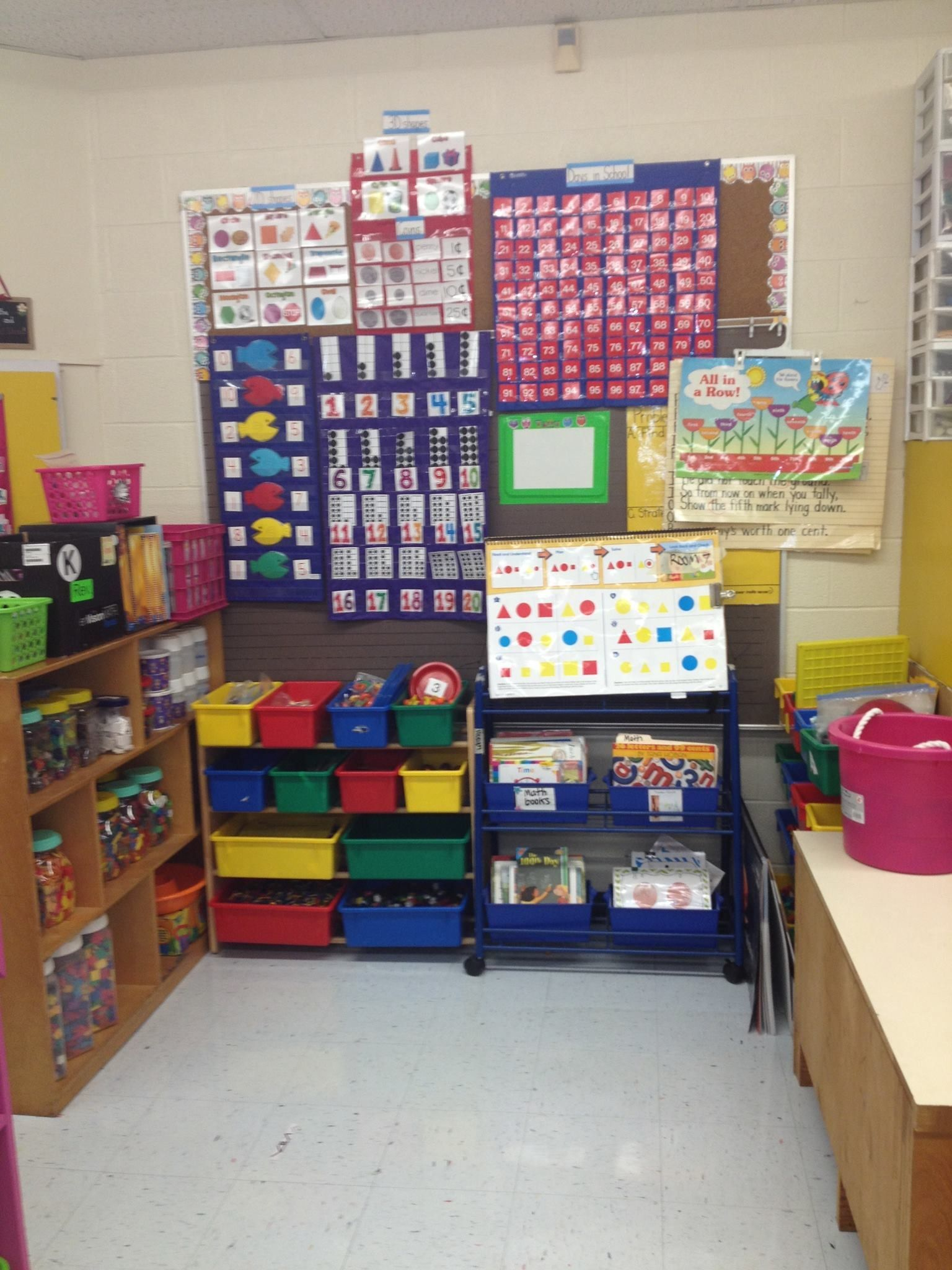 Reception Classroom Design ~ My math area kindergarten pinterest maths