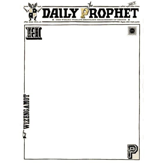 The Daily Prophet stationary -White background edit for less ink usage
