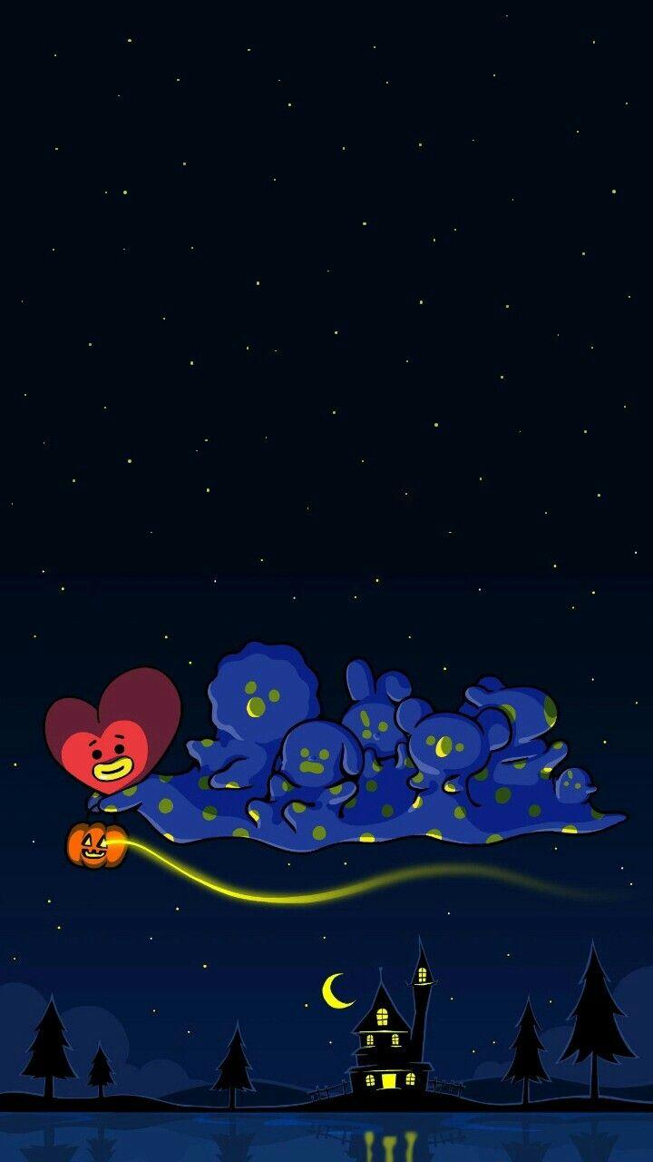 #bt21 🌟🌙 #shooky #cooky #tata #chimmy #mang #koya #Rj #wallpaper