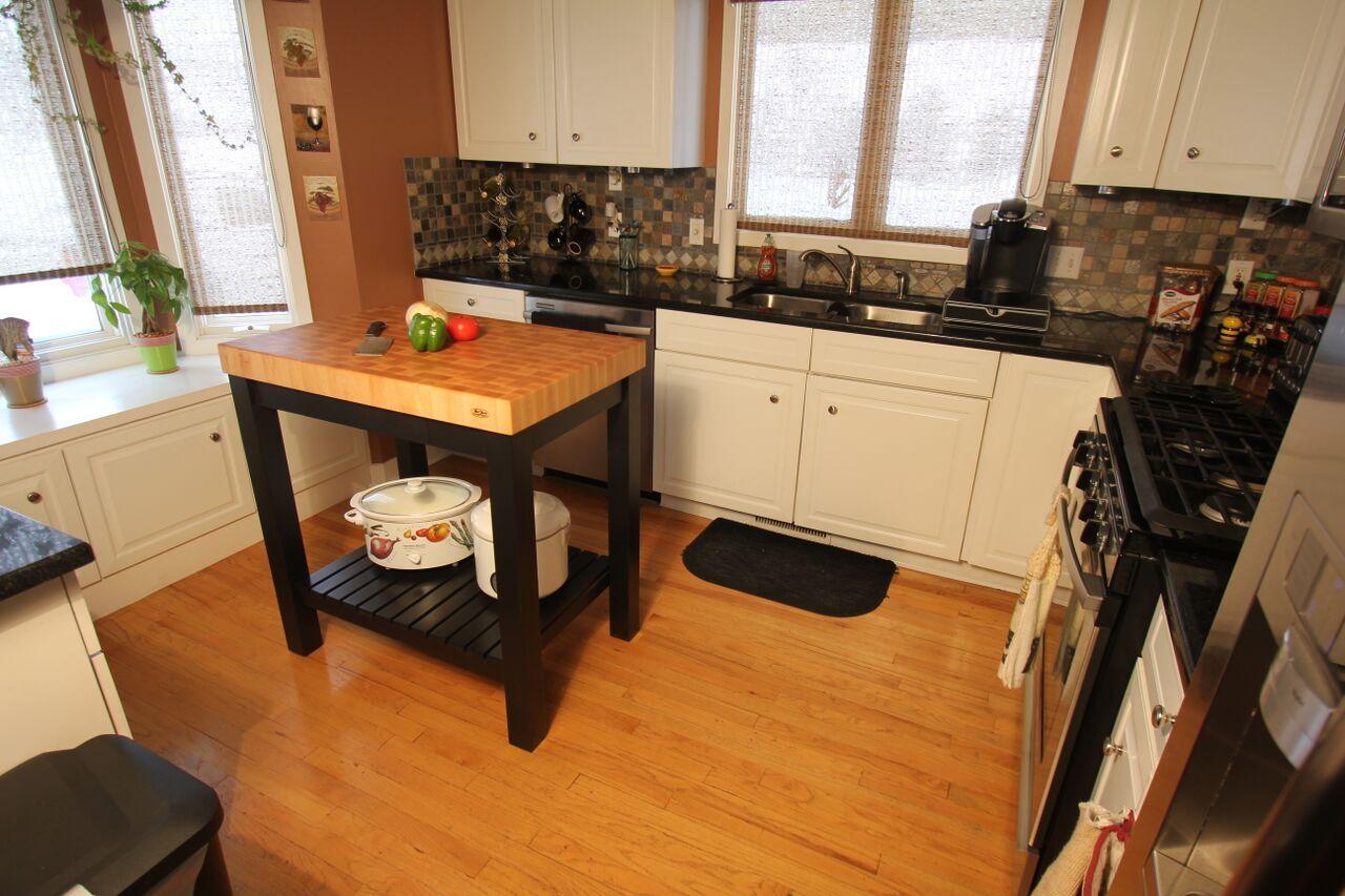High Quality Perfect Pairs: Maple End Grain Butcher Block + Black Kitchen Island Cart