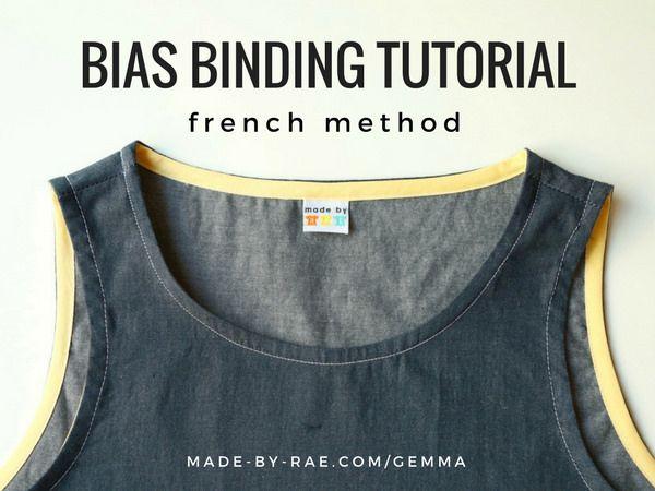 Bias Binding Tutorial (french method | Sewing | Pinterest | Nähen ...