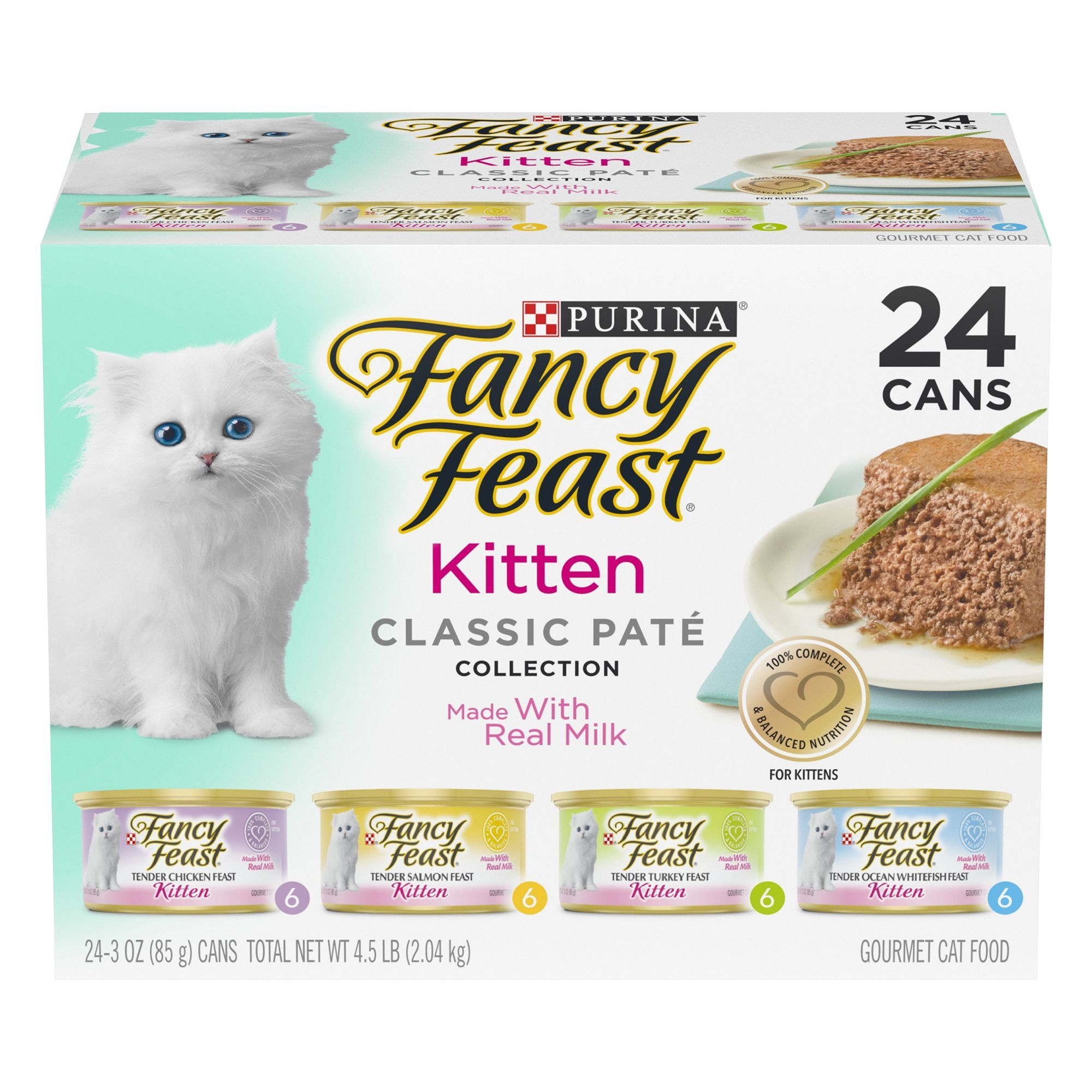 Fancy Feast Kitten Classic Pate Cat Food Variety Pack 24ct Size