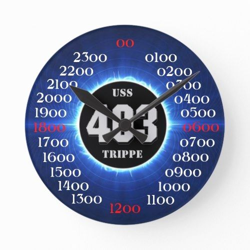 USS Trippe (DD-403) Round Clock