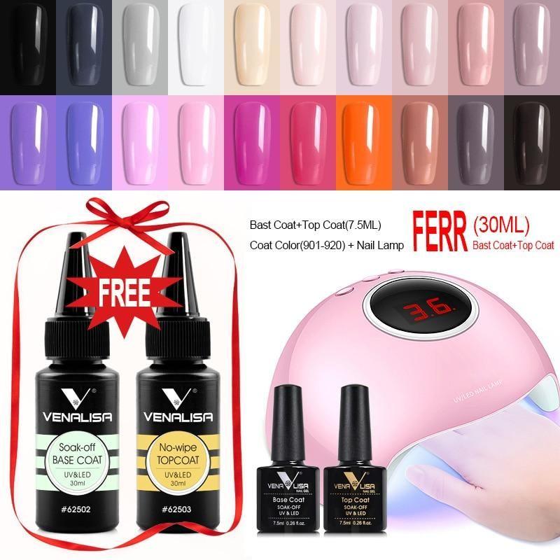 Venalisa 36w Nail Lamp With 20 Pcs Nail Gel Polish Set Gel Nail Kit Gel Nail Polish Gel Nails