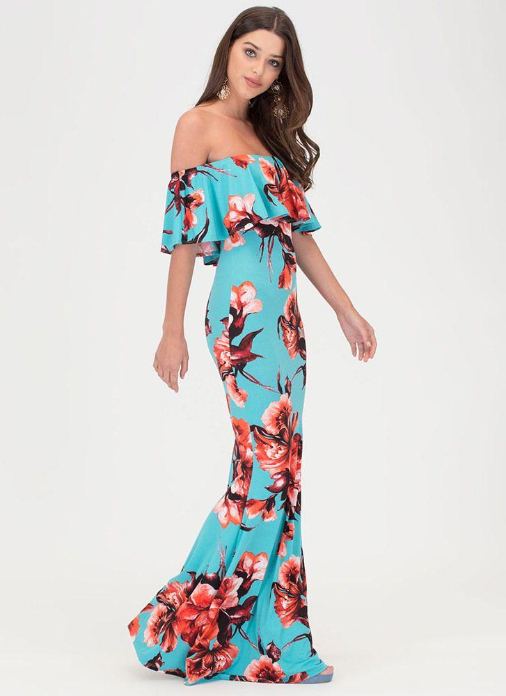 Off the Shoulder Hawaiian Dresses