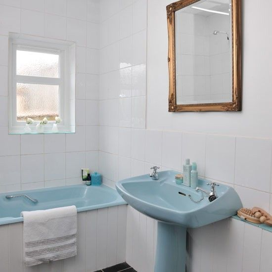 Bathroom Retro Blue Suite Photo Gallery Style At Home Housetohome