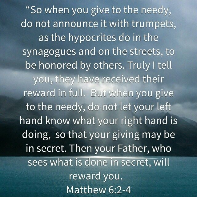 Image result for Matthew 6:2
