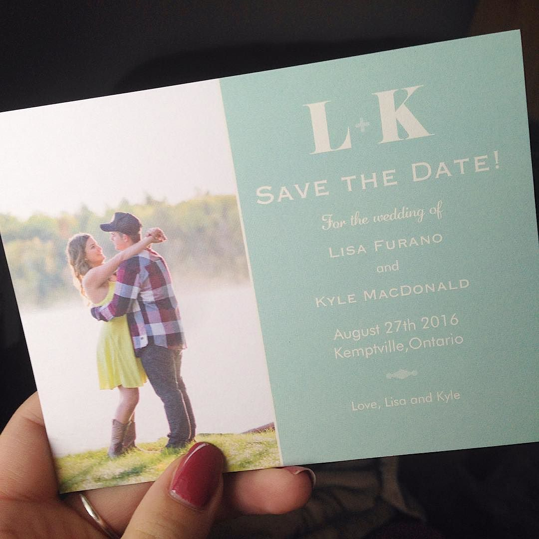 Absolutely love when my couples go out of their way to send me #savethedate cards! Even better when their engagement photos are on them!!  #naweddings | https://www.instagram.com/p/BB-1bG0qug9/
