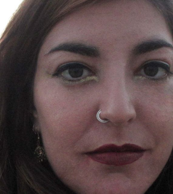 mode de premier ordre divers styles marques reconnues Aztec nose ring, Silver nose ring, Gypsy nose ring, nose ...
