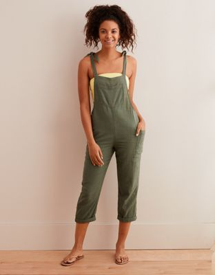 cc9ef07a0598 Aerie Shoulder Tie Overalls by American Eagle Outfitters