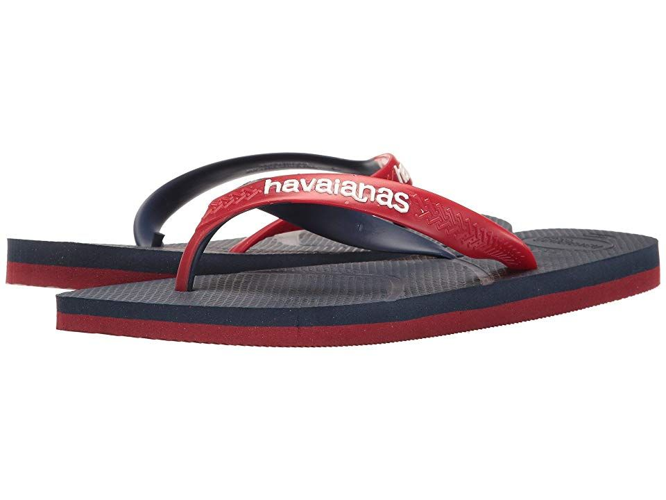 37d2d95a6e39c7 Havaianas Casual Flip Flops (Navy Blue Red) Men s Sandals. Leave imprints in