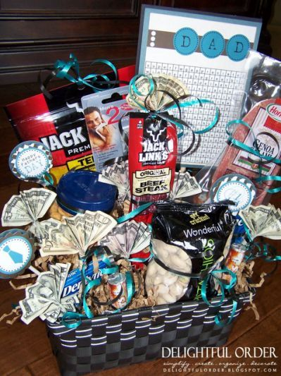 Diy Gift Basket Ideas For Men Diy Gifts Crafty Gifts Fathers