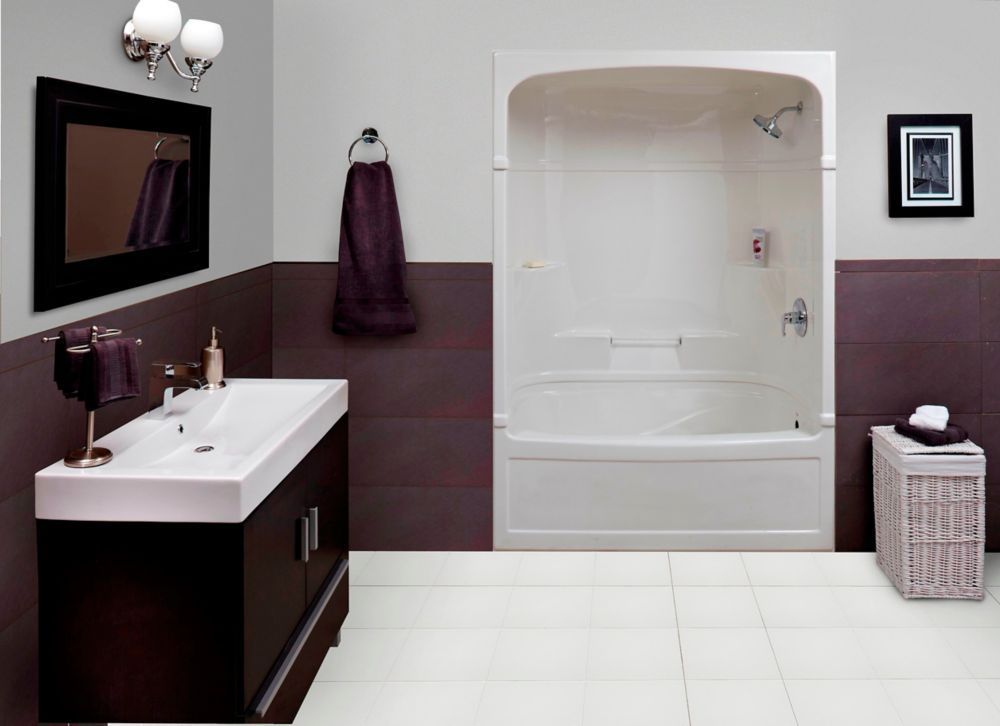 Empire 60 Inch 3-piece Acrylic Tub And Shower-Right Hand | Bathroom ...