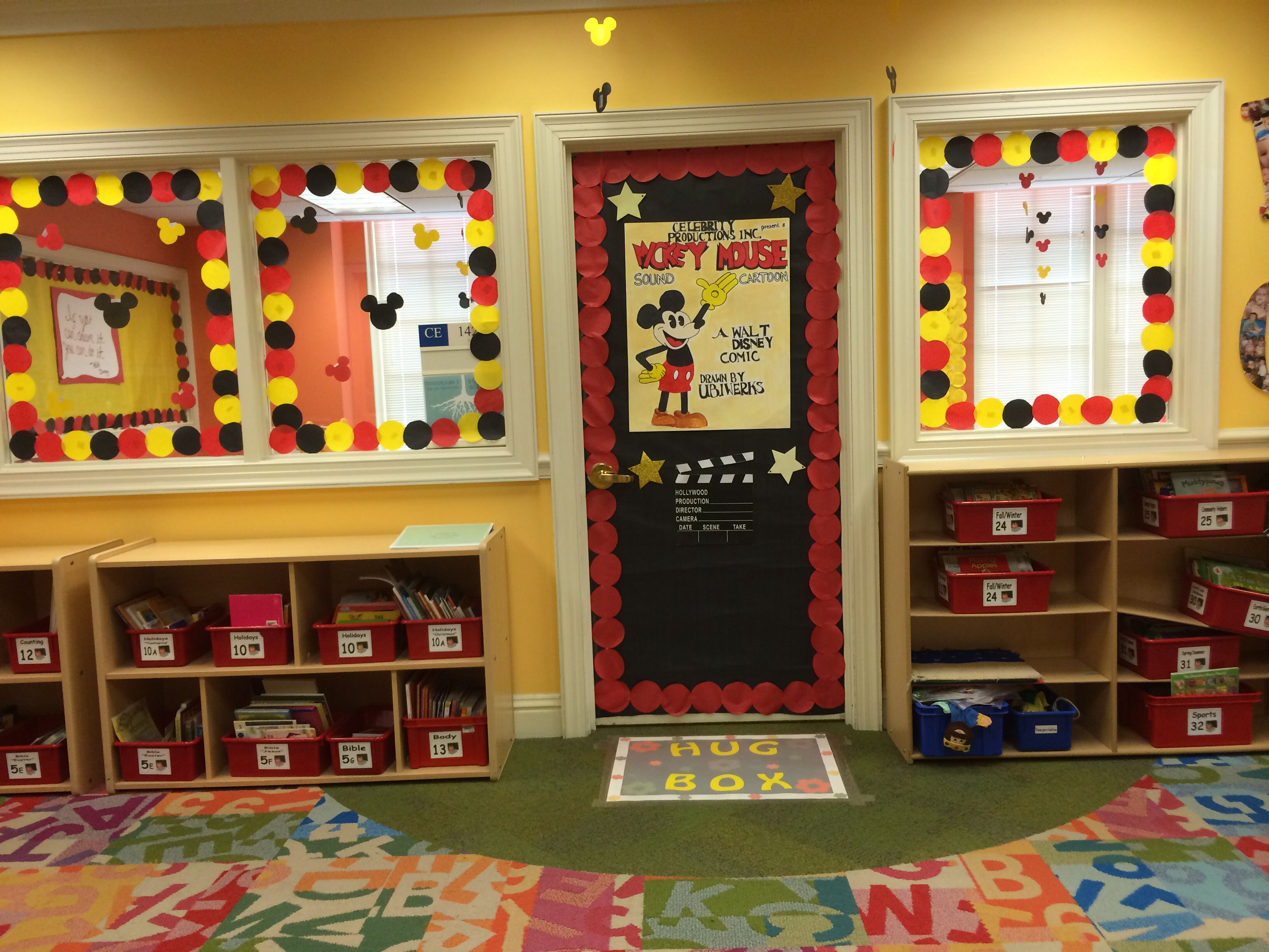 Classroom Decorations Disney ~ Disney theme classroom door mickey mouse by me