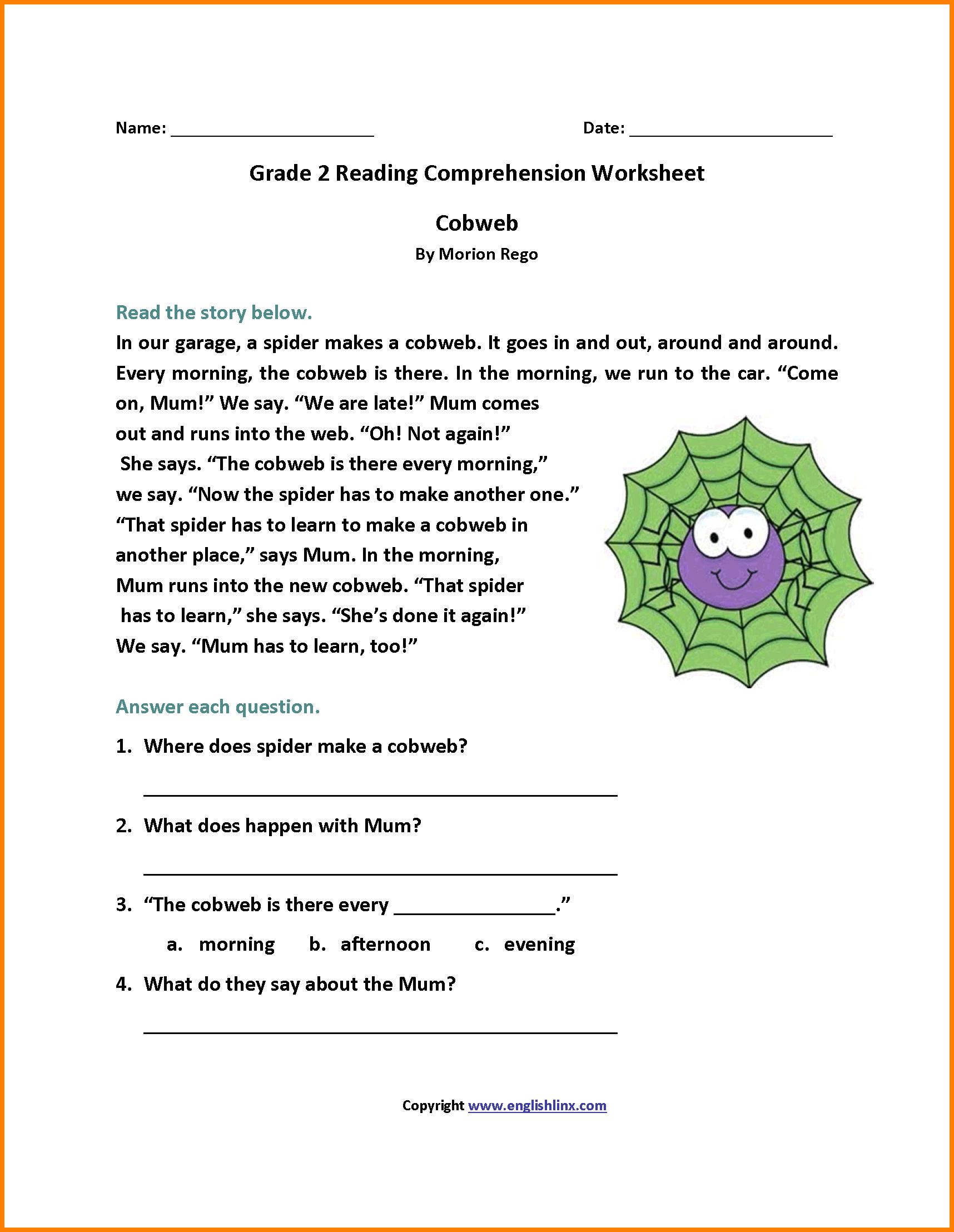 6 2nd Grade Reading Passage