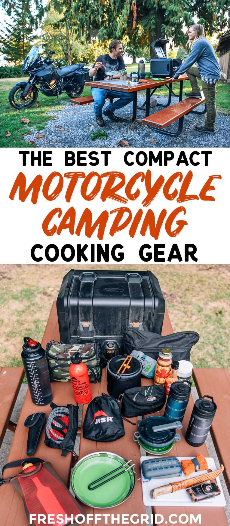 Eating Well On Two Wheels Motorcycle Camping Cooking Gear Things