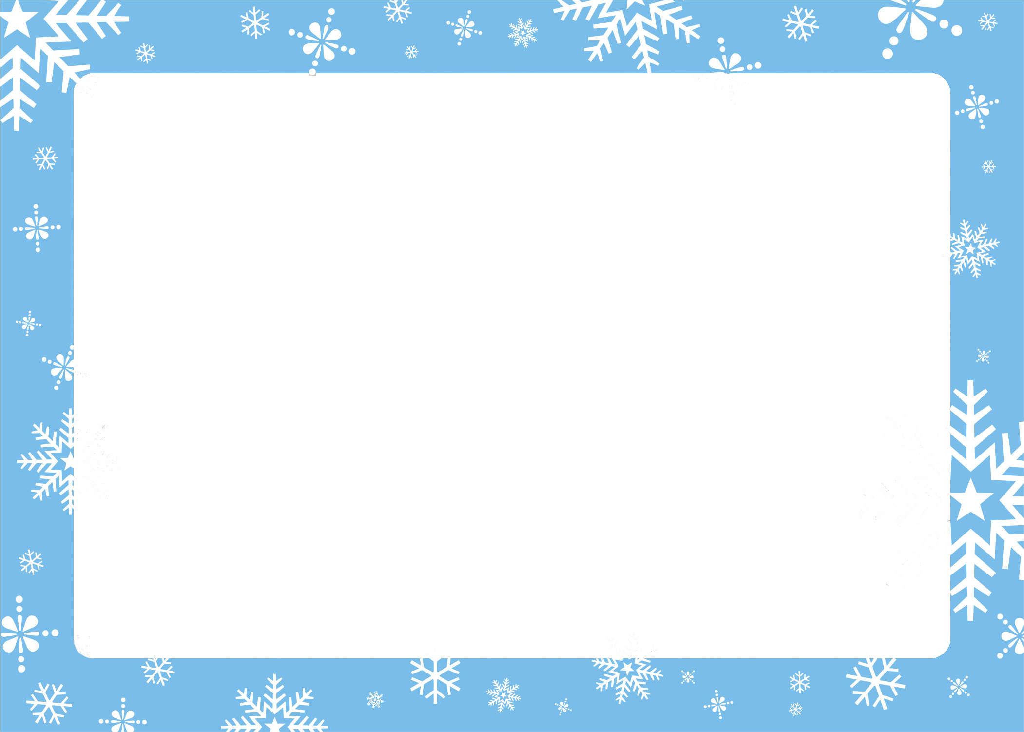 Free Christmas Picture Border Frames – Holiday Card Template
