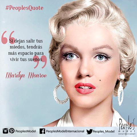 """""""Si dejas salir tus miedos, tendrás más espacio para vivir tus sueños"""" Marilyn Monroe  #Dreams #Sueños #Model #Quotes"""