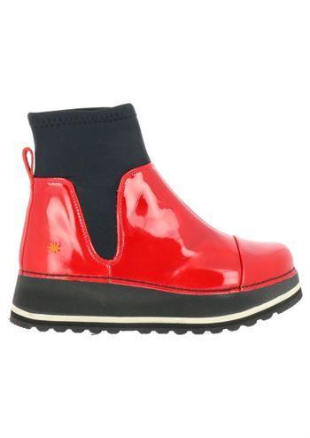 ed5fedca3c46 ART støvler HEATHROW XL 1044C charol bermellon . Flade røde lak damestøvler