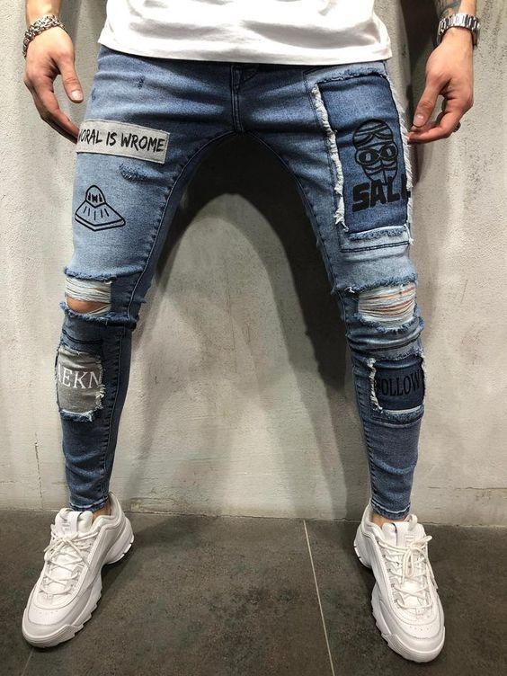 Jeans Estampados 2020 Ropa Para Hombres Jovenes Chaquetas Jeans Hombre Pantalones De Hombre Moda