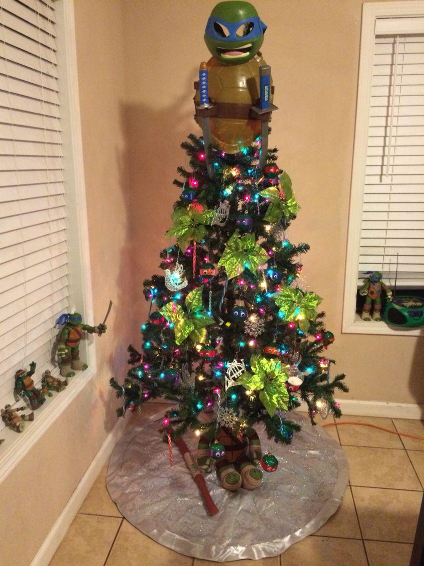 Ninja Turtle Christmas Tree.Ninja Turtle Tree Creative Christmas Trees Christmas Tree