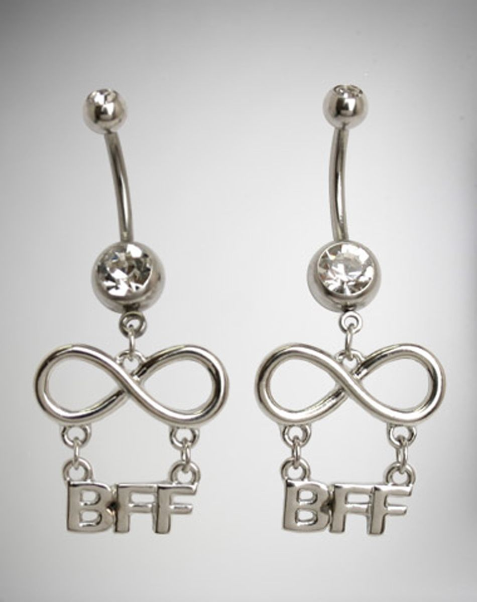 best friends infinity belly button rings set belly