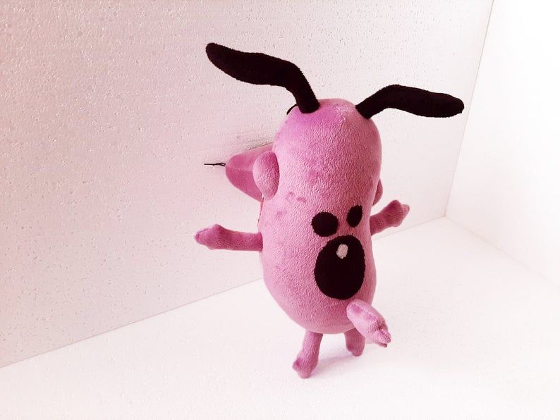 Custom Plush Courage The Cowardly Dog Inspired Please Send Me