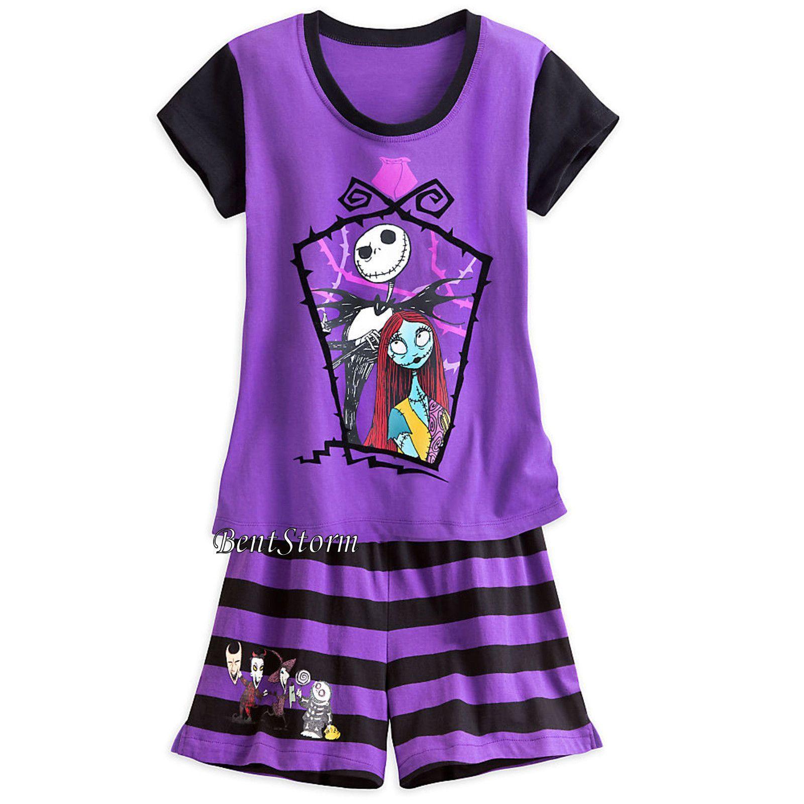 652392ecb The Nightmare Before Christmas Jack Sally Short Pjs Pajamas Women Disney  Store