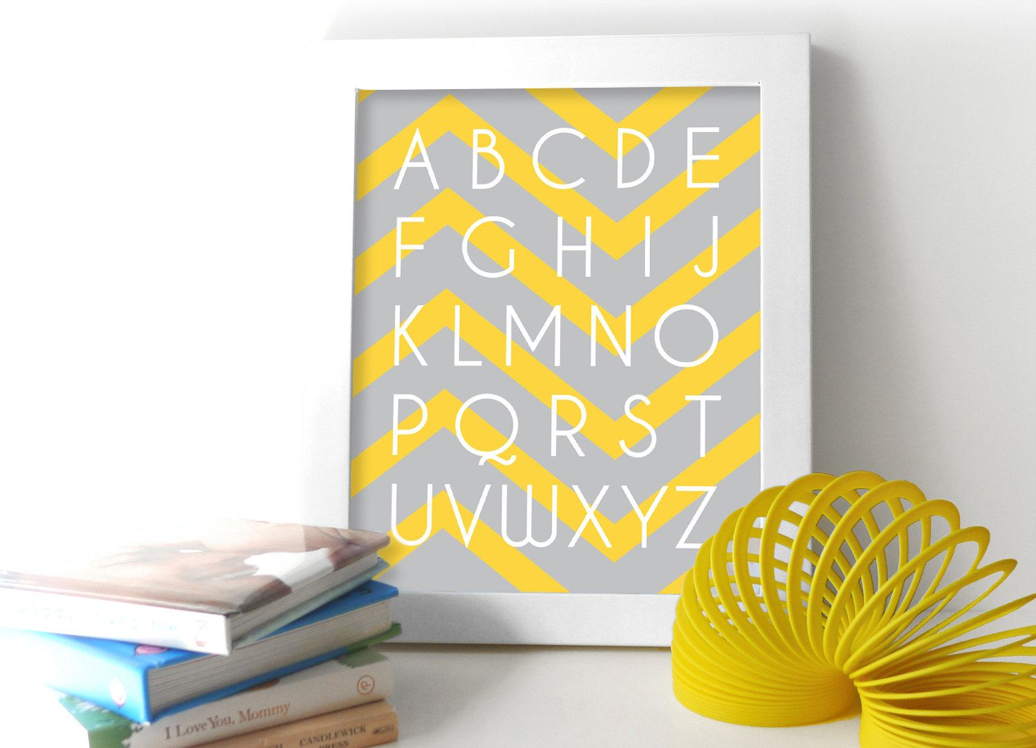 Chevron Nursery Decor - ABC Prints - Baby Boy Wall Art Nursery ...