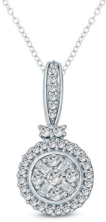 Fine Jewelry 3/8 CT. T.W. Diamond Round 10K Gold Pendant PJMUc4