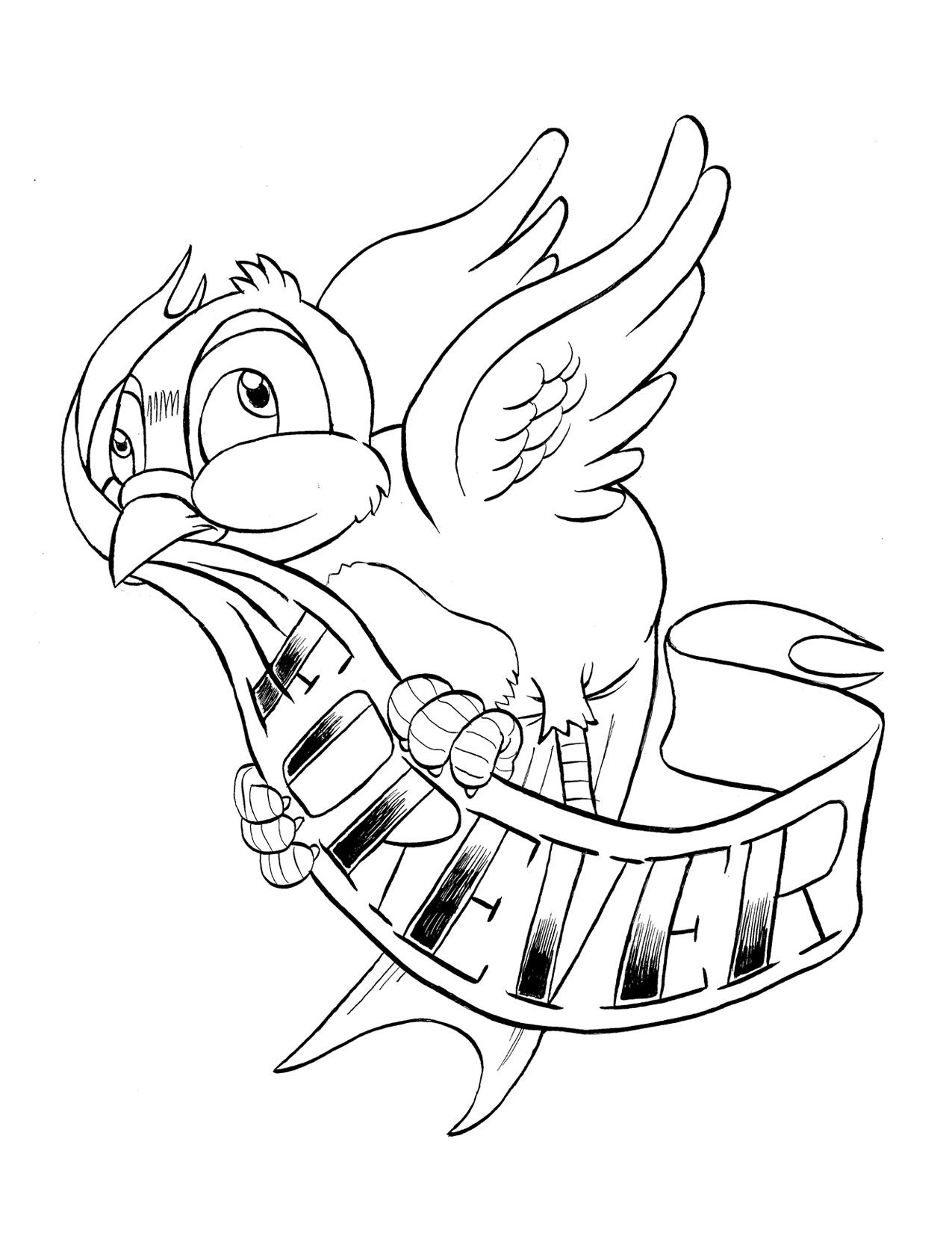 Bluebird Coloring Page Printable