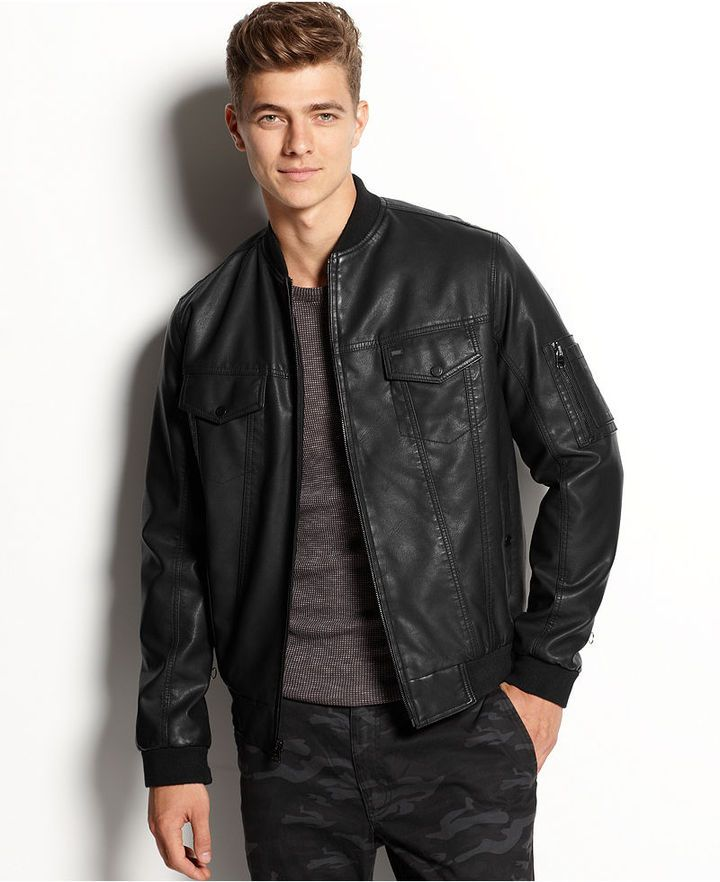 Faux Leather Bomber Jacket | Shops, Leather and Jackets