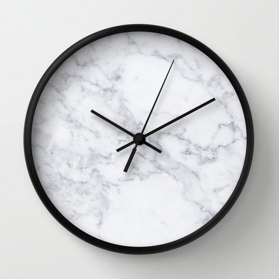Marble Wall Clock White Marble Clock Marble Office Decor Clock Modern Office Wall Clock White Marble Home Decor White Office Wall Clock Marble Clock Wall Clock
