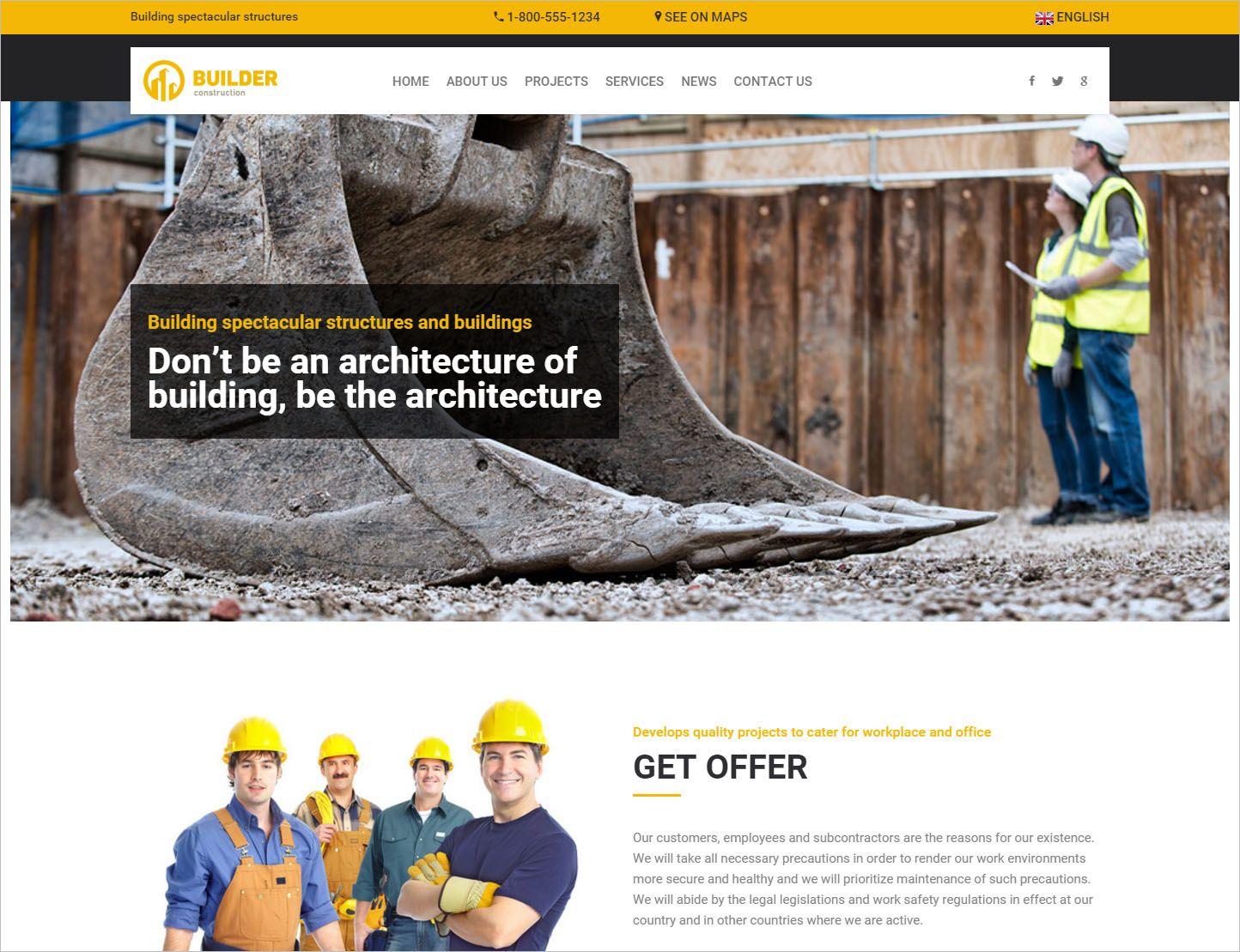 18 Template HTML Website Perusahaan Konstruksi | Template and Website