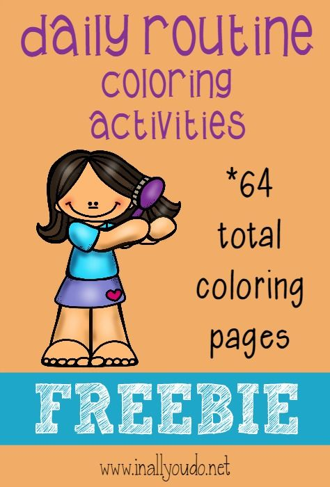 Use These Fun Daily Routine Coloring Pages To Help Teach Your Kids What They Need Do Download Them Now