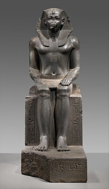 Colossal Statue of a Pharaoh Seated Granodiorite Middle ...