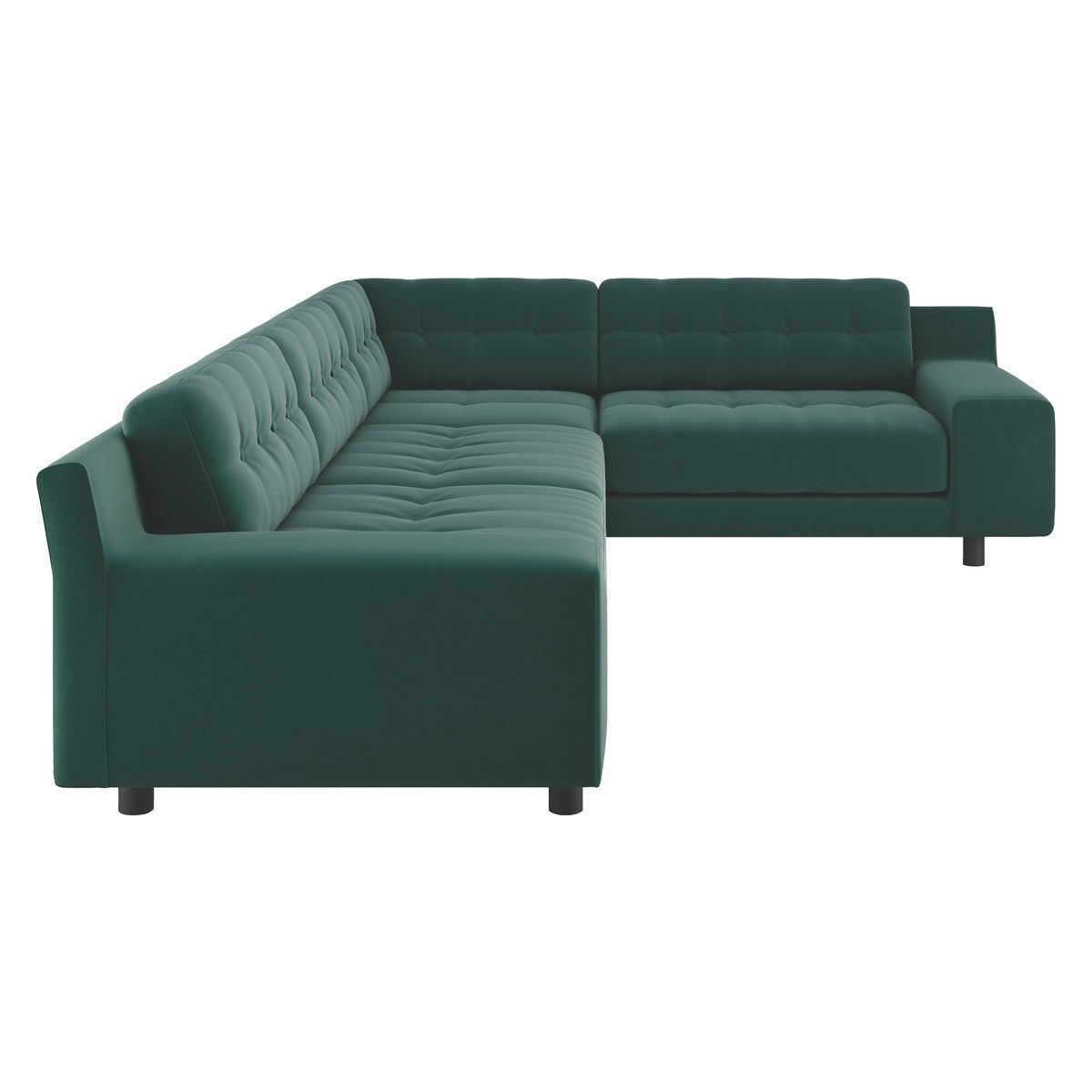 Hendricks Emerald Green Velvet Left Arm Corner Sofa Now At Habitat Uk