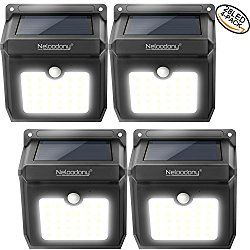 Neloodony Wireless Solar Lights Outdoor 28 LEDs Motion Sensor Security  Powerful Safelight For Halloween Outside Garden, Patio, Yard, Pathway, Pool  ...