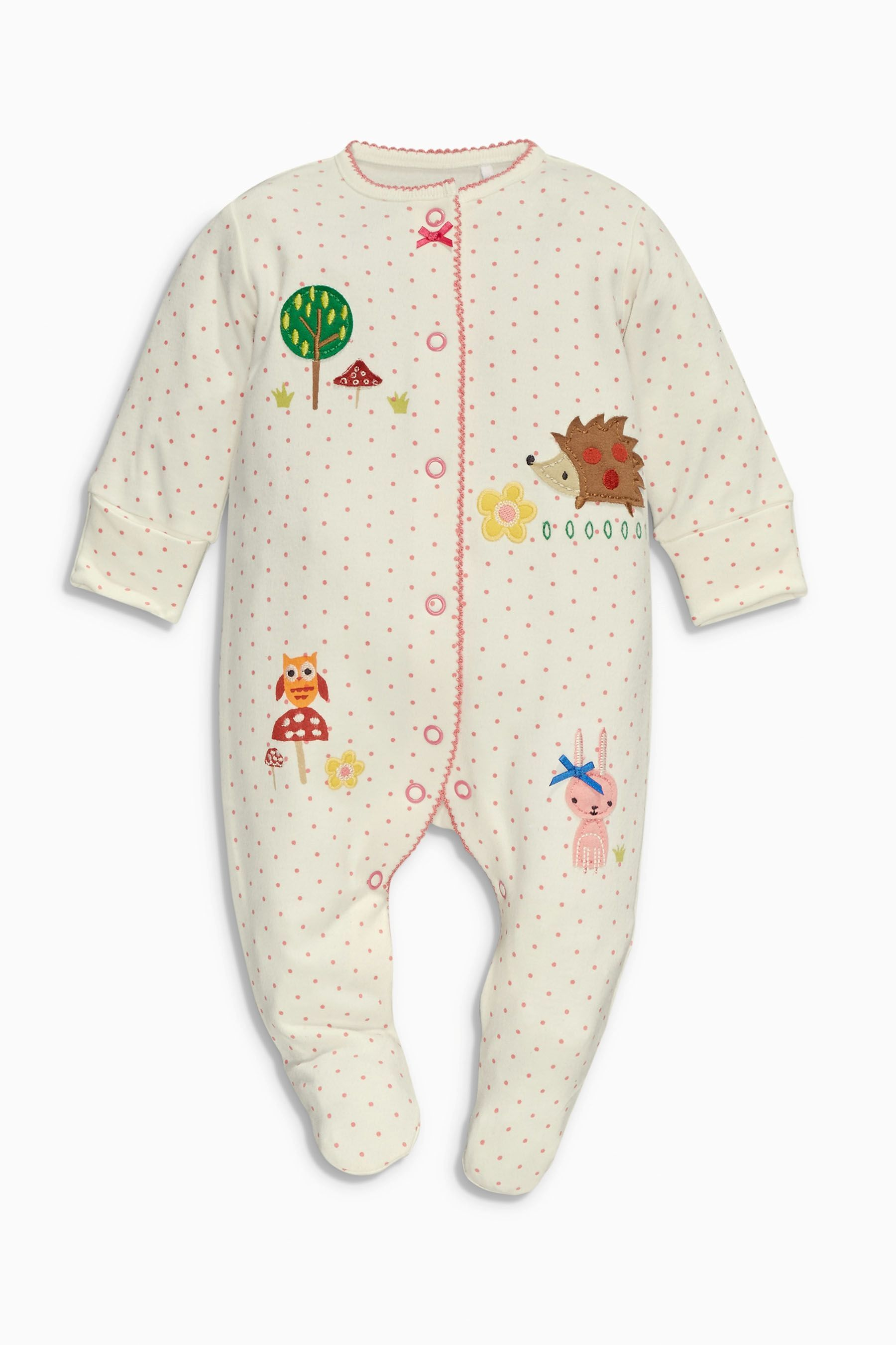 02775abea Buy Turquoise Woodland Sleepsuits Three Pack (0mths-2yrs) from the ...