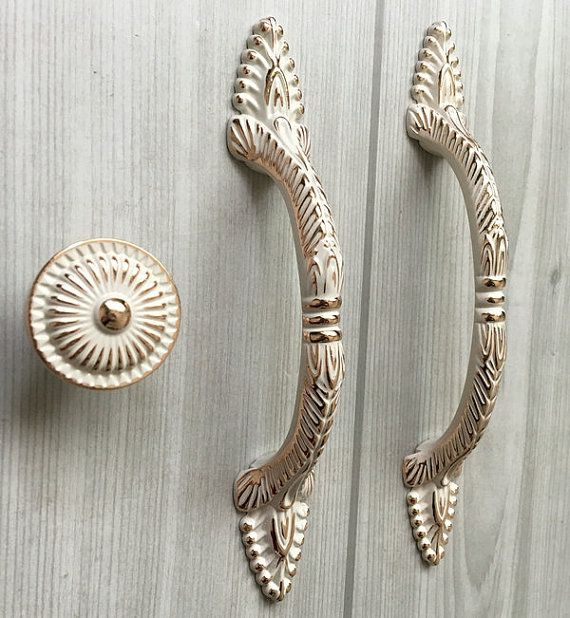 3 75 5 Shabby Chic Drawer Pull Handles Dresser Etsy In 2020 Shabby Chic Drawers Shabby Chic Drawer Pulls Kitchen Cabinet Door Handles