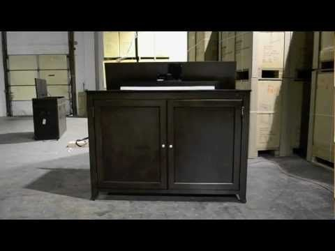 monterey tv lift cabinet video by touchstone home products