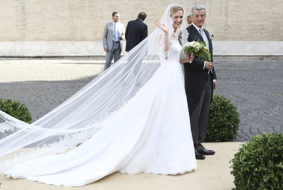 5.07.2014 : mariage d'Elisabetta Maria Rosboch von Wolkenstein avec le prince Amédéo de Belgique