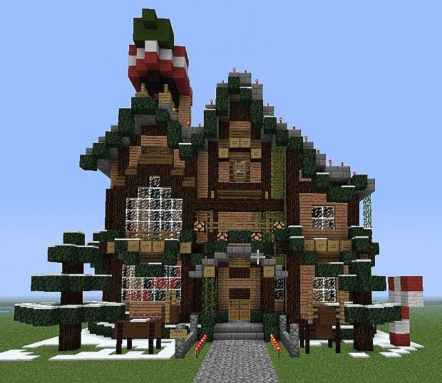 Minecraft Christmas Houses.Image Result For Minecraft Christmas Builds Minecraft