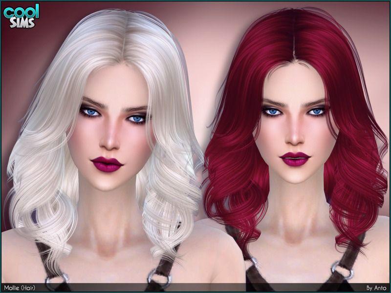 Anto Mollie Hair Womens Hairstyles Sims Hair Sims 4