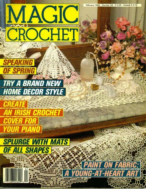 Crochet Magazines MAGIC HOME DECORATIVE WORLD w//HEART HERRSCHNERS *You Choose